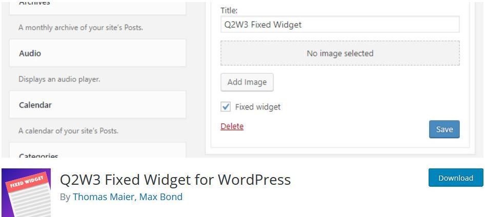 Q2W3-Fixed-Widget-Plugin