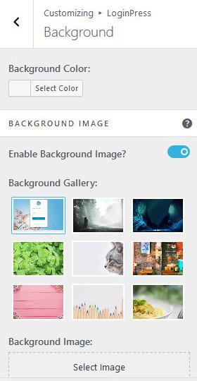 customize background