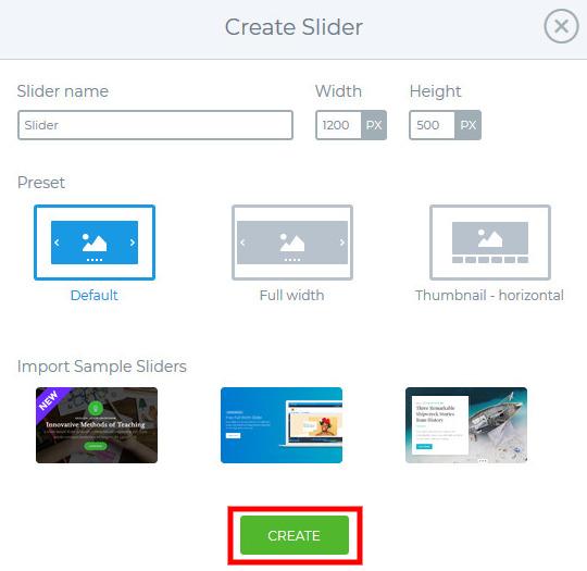 create new slide