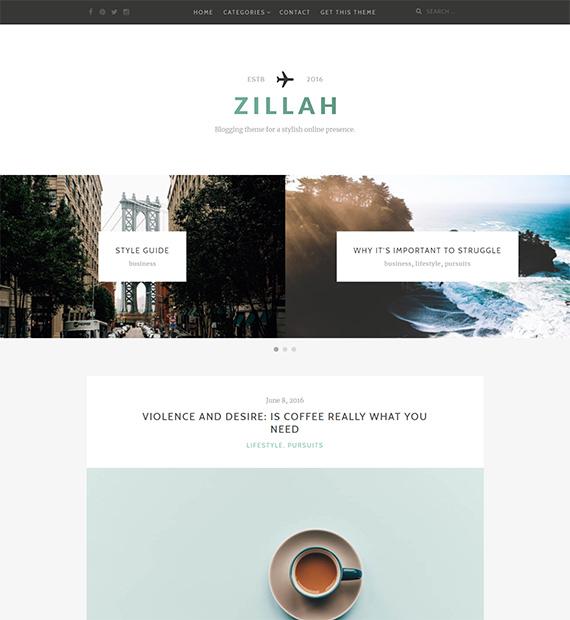 Zillah-free-minimalist-WP-theme