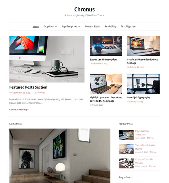 chronus-free-wp-blog-theme