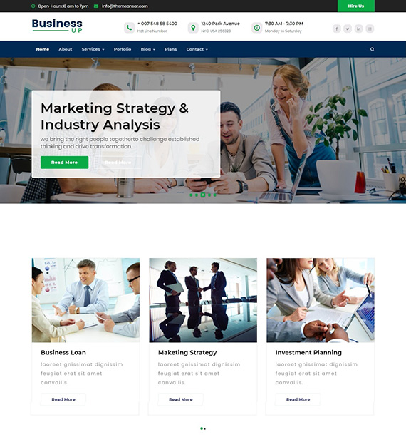 Businessup-WP-business-theme