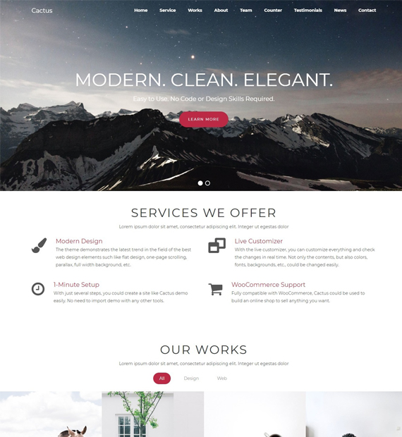Cactus-WordPress-Business-Theme