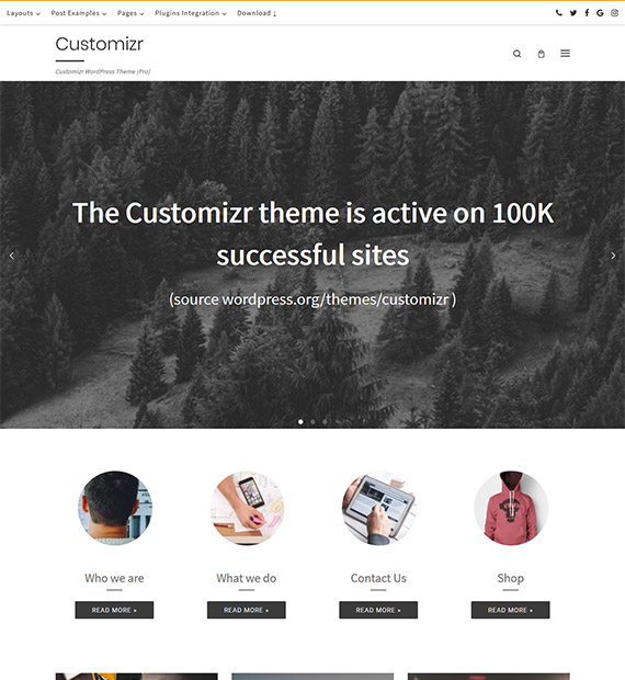 Customizr-WordPress-Theme-demo