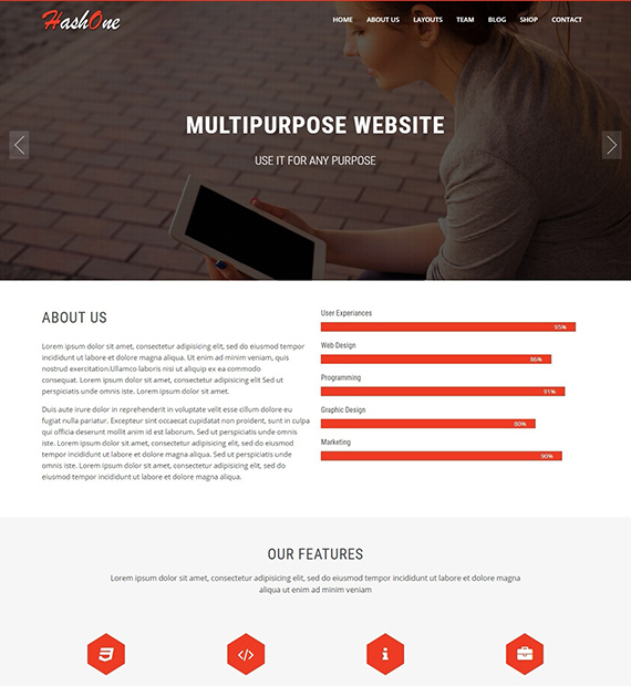 HashOne-multipurpose-WP-theme