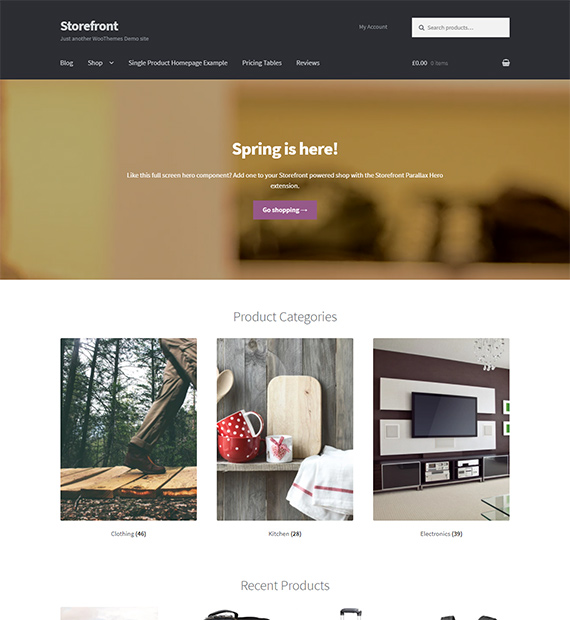 Storefront Free Wordpress Ecommerce Theme Beautiful Themes
