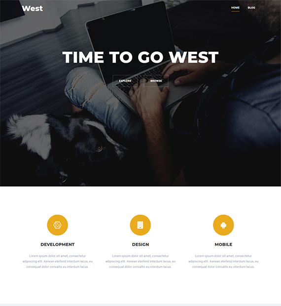 West-free-WordPress-landing-page-theme
