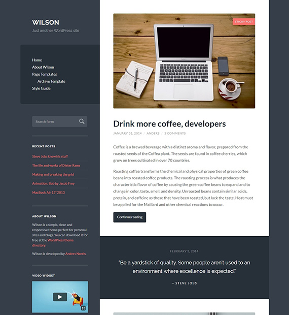 Wilson-WordPress-Blogging-Theme