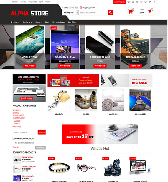ecommerce templates wordpress