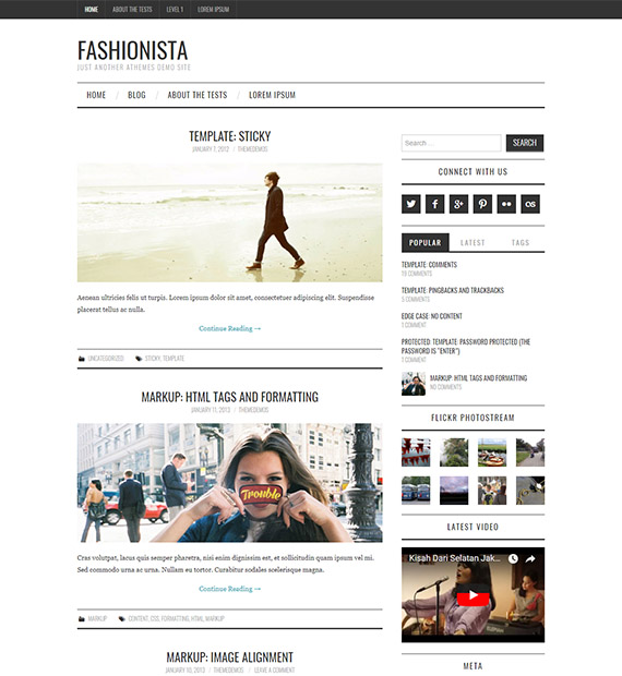 Fashionista Free Wordpress Magazine Theme Beautiful Themes