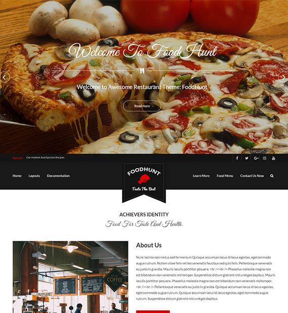foodhunt-free-restaurant-wp-theme