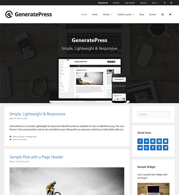 generatepress-free-wp-blog-theme