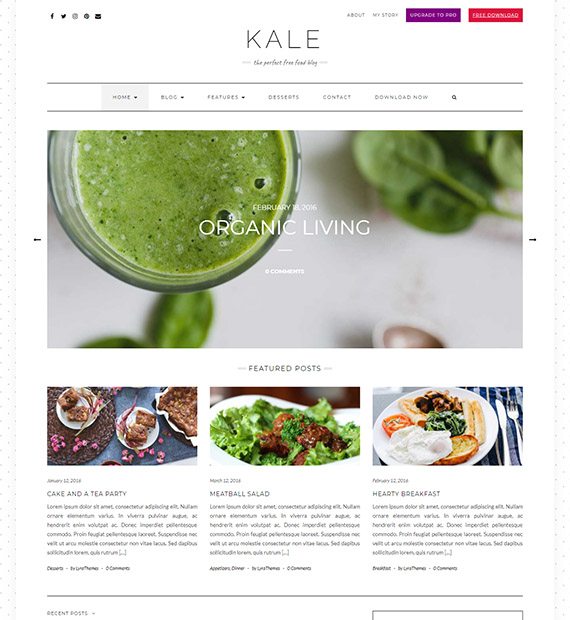 kale-free-wordpress-blog-theme