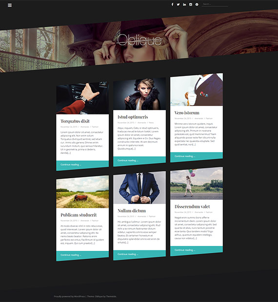 oblique-free-wp-blog-theme