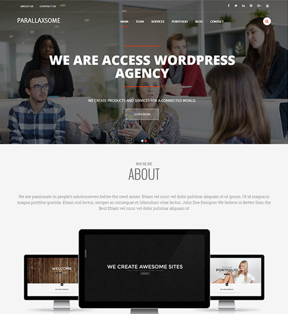 parallaxsome-free-wp-one-page-theme