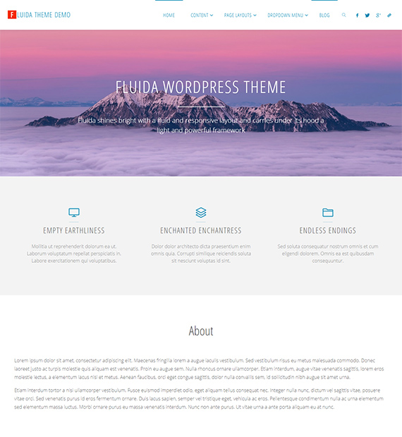 Fluida-WordPress-Blogging-Theme