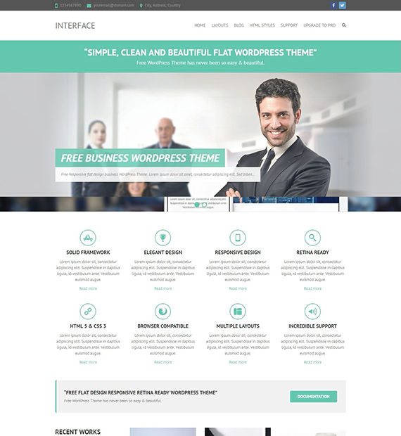 Interface : WordPress Business Theme - Beautiful Themes