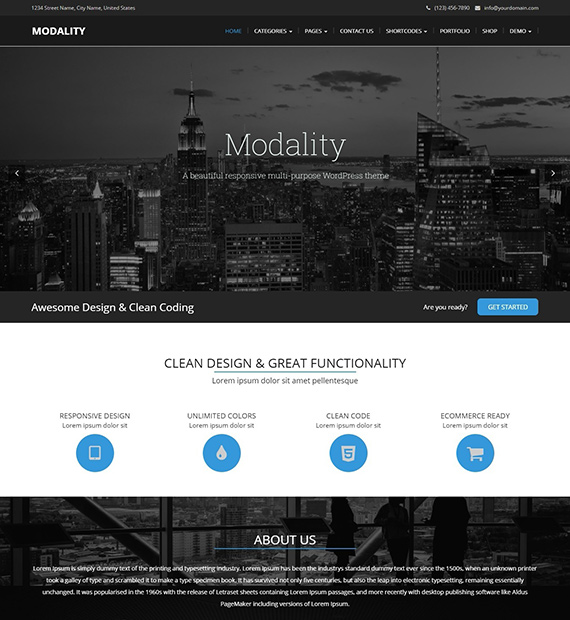 Modality-Multipurpose-WP-theme
