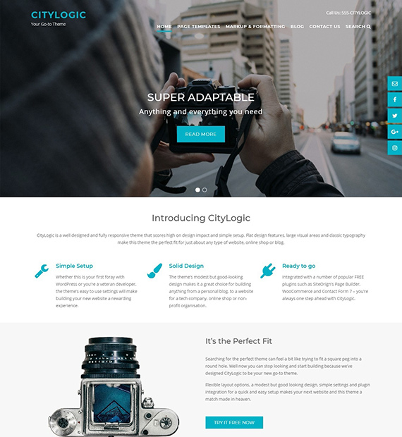 CityLogic-WordPress-Business-theme
