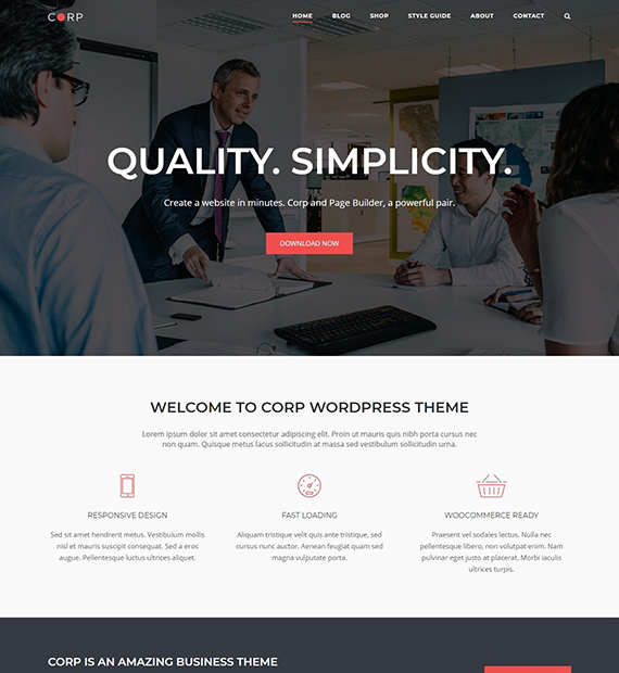 SiteOrigin-corp-WP-Business-theme