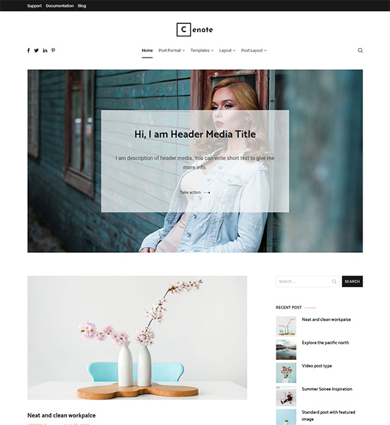 Cenote-Blogging-WordPress-Theme