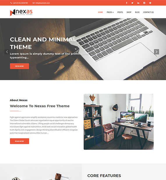 nexas-free-wordpress-business-theme