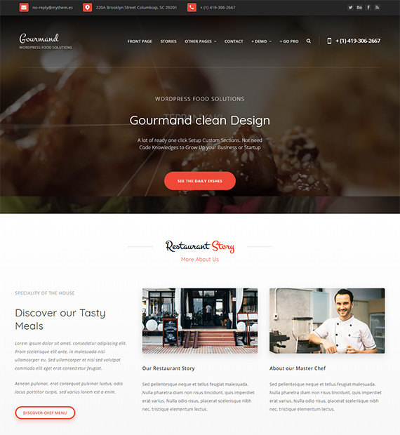 WordPress-Blog-Theme-Gourmand