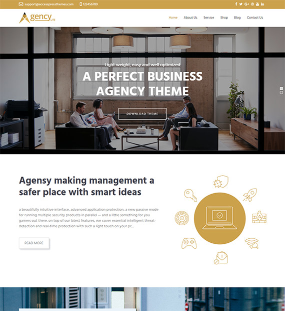 WordPress Business Theme Agency Lite