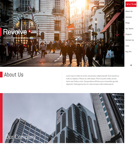 WordPress Multipurpose Theme Revolve