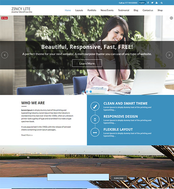 WordPress-Business-Theme-Zincy-Lite