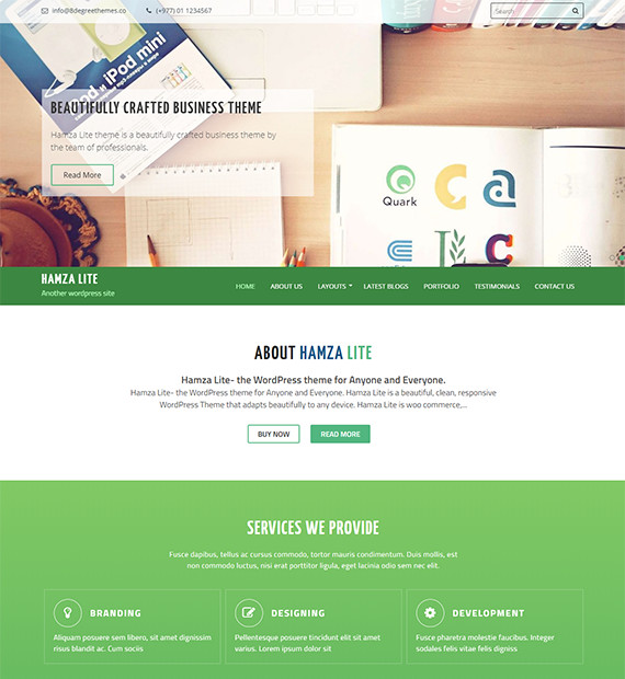 WordPress-Business-theme-Hamza-Lite