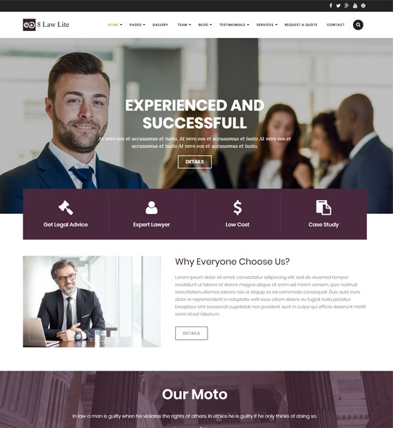 WordPress-Business-theme-eightlaw-lite
