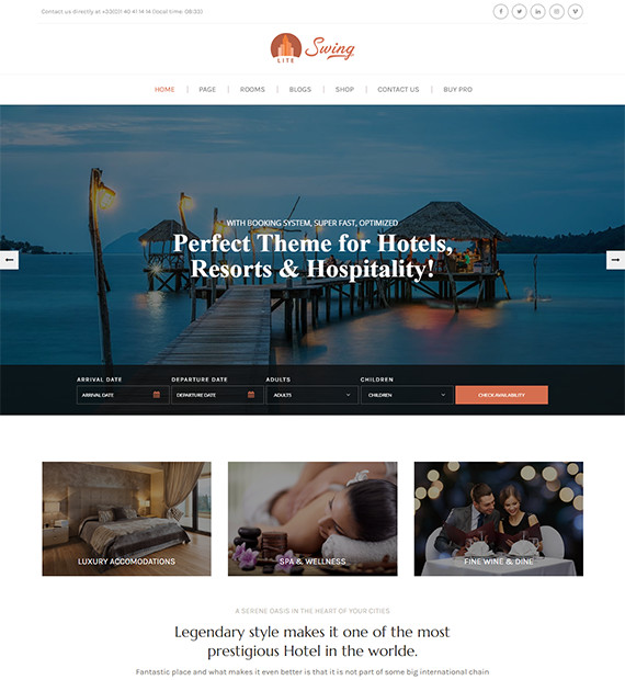 WordPress-Business-theme-swing-lite