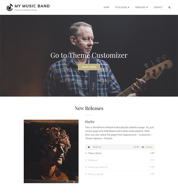 WordPress-Minimalist-Theme-My-Music-Band