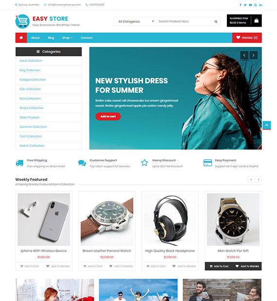 Easy Store-Free eCommerce WordPress Theme