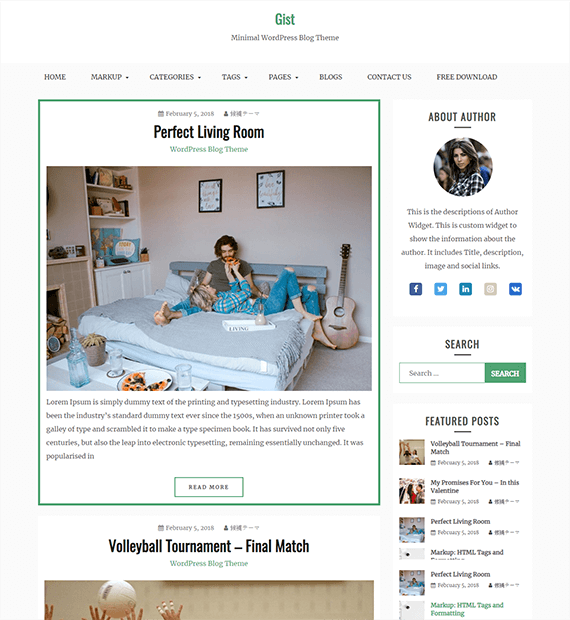 Gist-Blog WordPress Theme