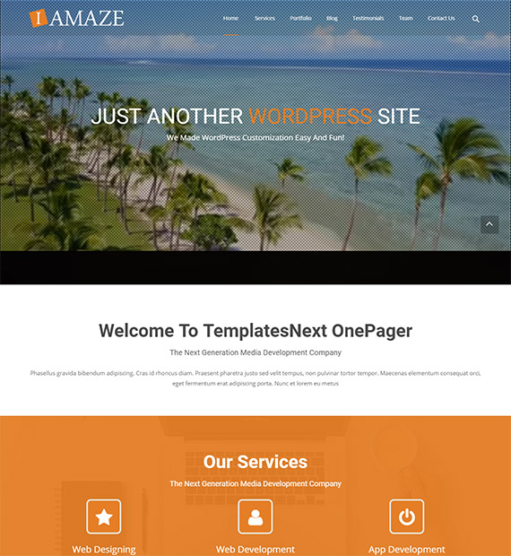 iAmaze WordPress Business Theme