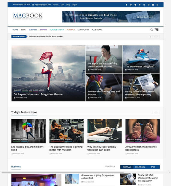 Magbook-Free Multipurpose WordPress Theme