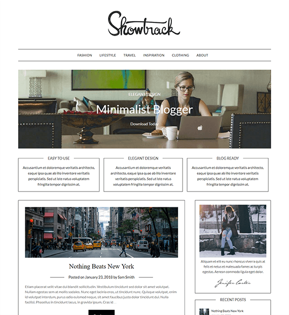 MinimalistBlogger-WordPress Blog and News Theme