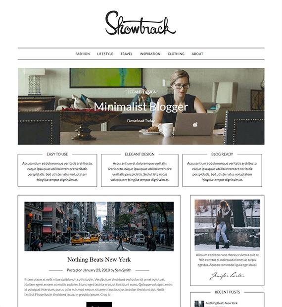 MinimalistBlogger-WordPress Blog and News Theme