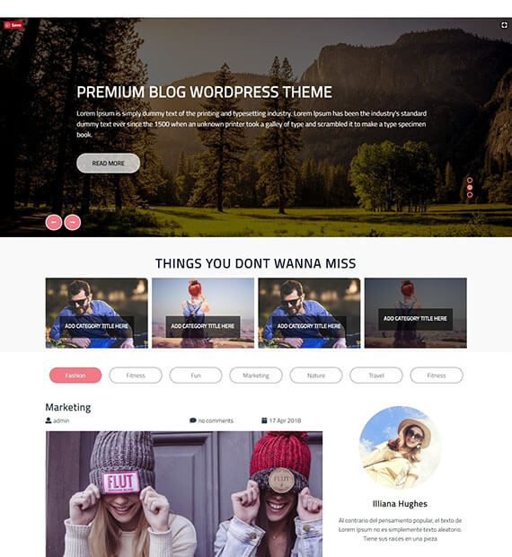 Perfect Blog-WordPress Multipurpose Theme