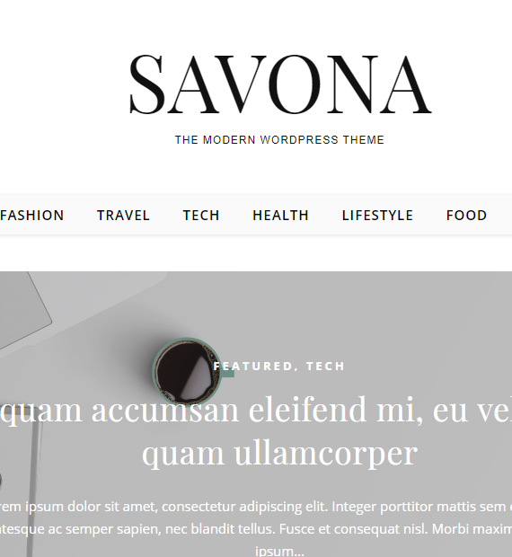 Savona-Free Multipurpose WordPress Theme
