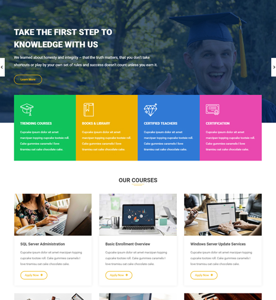 WordPress-Business-theme-enrollment