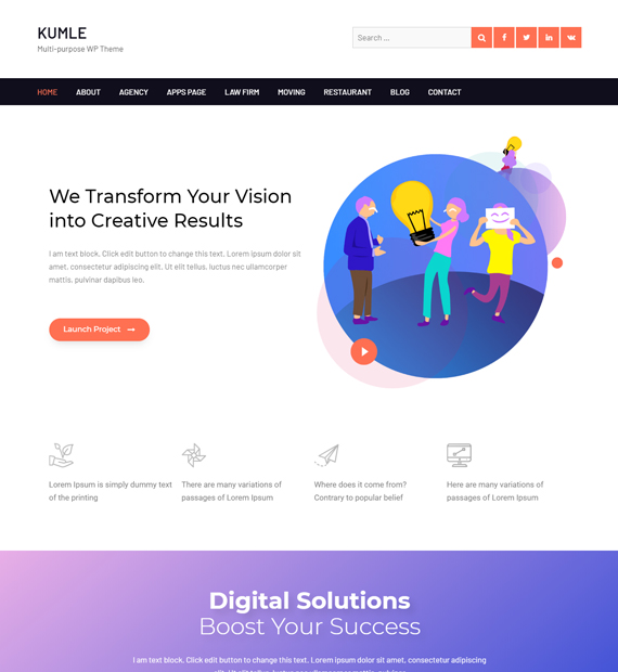 WordPress-Multipurpose-theme-Kumle