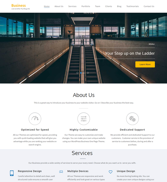 wordpress-business-theme-business-one-page
