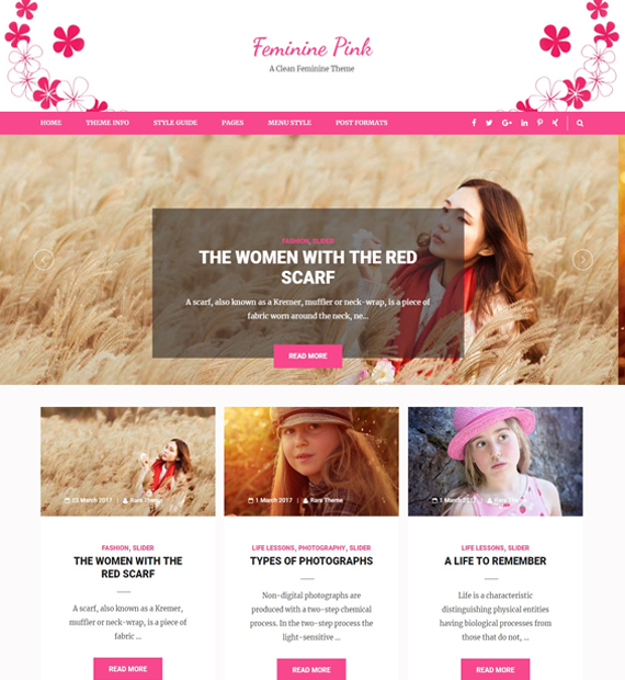 feminine-pink-wordpress-blog-theme