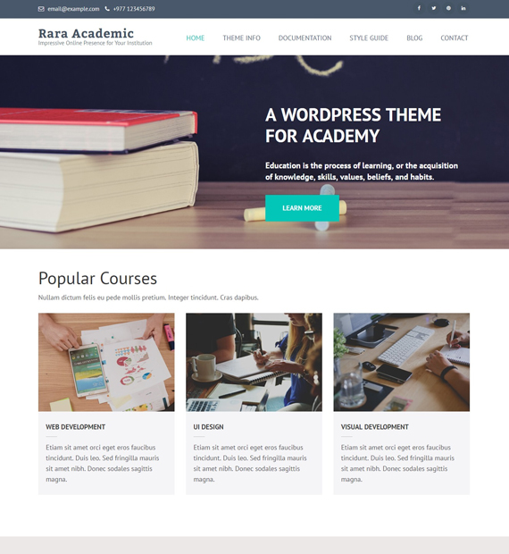 rara-academic-wordpress-education-theme
