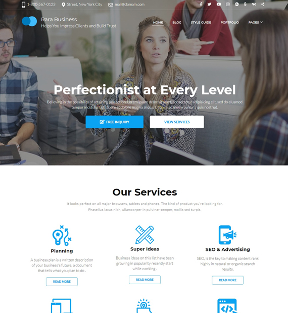 rara-business-wordpress-business-theme