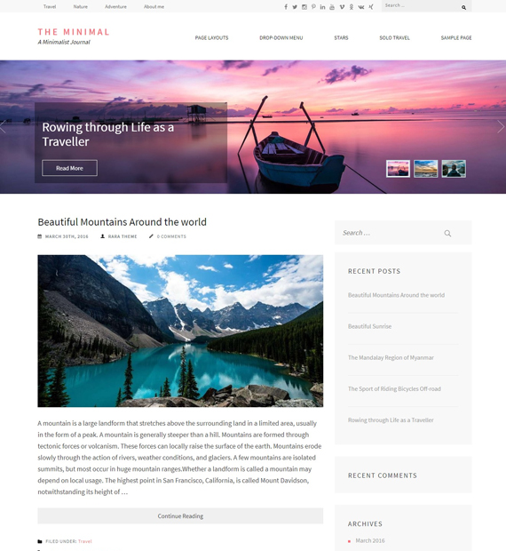 the-minimal-wordpress-minimalist-theme