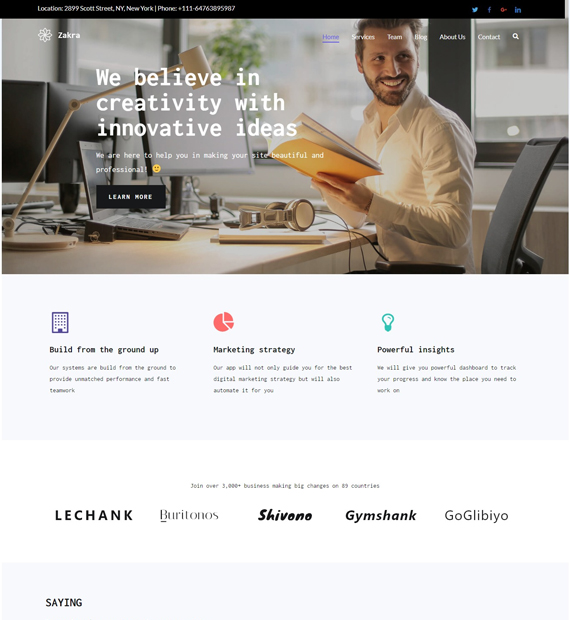 zakra-WordPress-Business-Theme